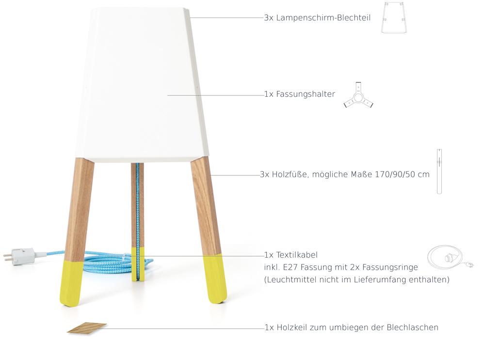 Einzelteile Stehlampe soform design Niederbayern