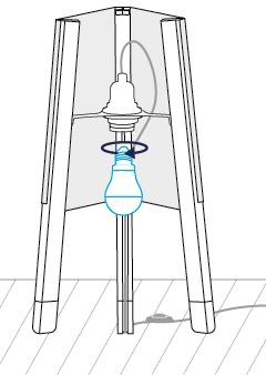 soform design die lampe auf drei beinen. Black Bedroom Furniture Sets. Home Design Ideas