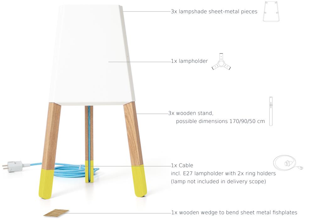 Parts floor lamp soform design bavaria